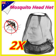2 x Army Issue Fly Mosquito Insect Bee Head Net Ideal for Camping Fishing Hiking