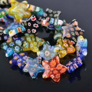 8mm 14mm 20mm Star Shape Mixed Millefiori Glass Loose Beads Wholesale lot