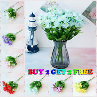 US 20 Heads Artificial Garden Mini orchid Outdoor Fake Flower Plant Home Decor