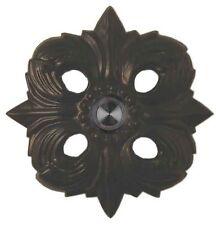 Brass Doorbell Avalon Scroll Designer Black Lighted Button Push Ringer House