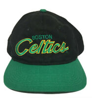 VTG 90s Boston Celtics Script NBA Basketball Sports Specialties Snapback Hat