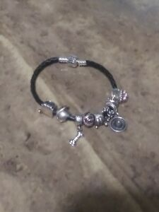 Pandora Braided Charm Bracelet With Pandora And Chamilia Sterling Silver Charms