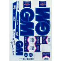 GN 3D EMBOSSED CRICKET BAT STICKERS + AU STOCK + FREE SHIPPING