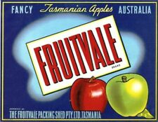 "SALE- Vintage Tasmania Apple Case Labels Fruit Art Poster ""baker's dozen-K"" (13)"
