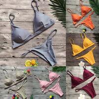 Womens Bandage Bikini Set Push-up Padded Brazilian Swimsuit Swimwear Beachwear