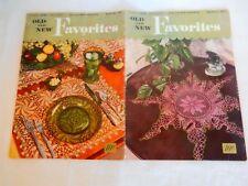 Vintage 1950 Old & New Favorites Crochet Patterns Queen Anne's Lace Irish Star