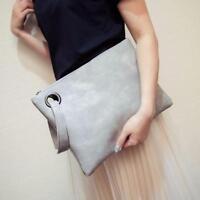 Fashion Women's PU Leather Handbag Clutch Envelope Shoulder Evening Bag Purse