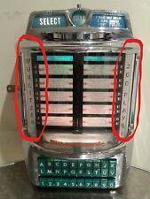 Wurlitzer Jukebox Wallbox Trim Pilasters Spares Parts 5210 5250 5252 5200 5202