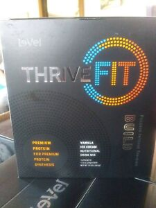 Authentic Le-Vel Thrive Fit Premium protein shake 6 case lot /16 packets a case.