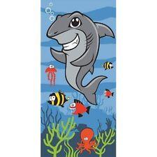 Children Kids Novelty Shark Under the Sea Swim Beach Towel 100% Cotton