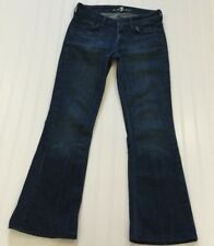 """7 FOR ALL MANKIND Women's Sz 26 FLYNT Boot Cut Denim Blue Jeans 28X27"""" USA Made"""