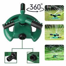 360° Auto Rotating Lawn Garden Sprinkler Watering System Water Spray Grass Yard
