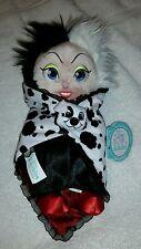 "Disney Parks Disney Babies Cruella DeVille 10"" Plush 101 Dalmatians New w/ Tags"