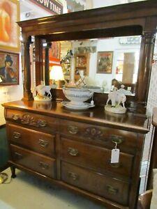Antique Mahogany Mirror Back Sideboard