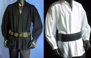 Hemd Piraten Mittelalter Gothic Steampunk - weiß oder schwarz*194