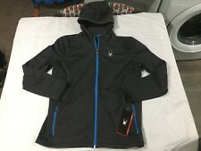 NWT $129.00 Spyder Mens Chambers Full Zip Fleece Hoody Jacket Polar Gray XL