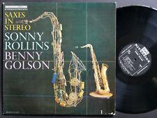 SONNY ROLLINS BENNY GOLSON Saxes In Stereo LP RIVERSIDE RLP 12-1124 US 1957 DG