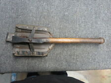"Wwii German Army Folding Shovel W/Carrier-Original-Marked ""ekz� & Waffenamt-1943"