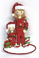 """Mother & Child Ceramic Christmas Tree Ornament Personalize It! 4.5""""x 3""""x .5"""""""