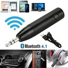 Super Mini Car Aux 3.5mm Audio Wireless Bluetooth 4.1 Mic Receiver Music Adapter