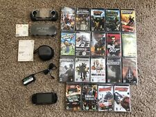 Sony PSP PlayStation Lot PSP-1001 Black w/ 20 Games & Cases! Tested! Read! 🔥