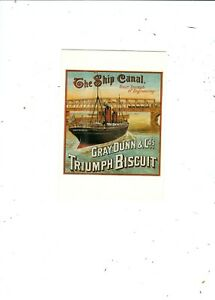 POSTCARD PUBLISHED IN UK BY MUMBLES  SHIP CANAL  TRIUMPH BISCUIT