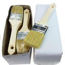 ROTIX 12 x Flachpinsel Lackier-Pinsel 12er-Pack Naturborste Holzgriff