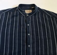 Men's Scully Blue 100% Cotton Button Front Frontier Western Shirt Size Large