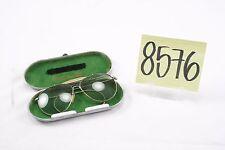 WWII US Aviator Sunglasses in Metal Case-- Rare Bausch & Lomb!