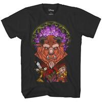 Disney Beauty and The Beast Stained Glass Belle Adult Men's Graphic T-Shirt Tee