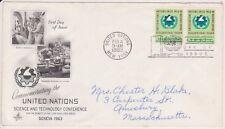 (K81-4) 1963 UN FDC 10c Commemorating UN science &Technology used (D)