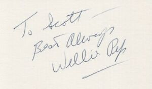 Willie Pep - Hall of Fame Champion Boxer - Autographed 3x5 Card