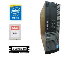 Dell 9020 SFF, i7-4770 3,4 - 3,9GHz, Win10 PRO @ 128GB SSD + 500GB HDD,8GB RAM