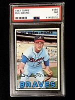 1967 Topps #456 Phil Niekro Atlanta Braves HOF PSA 7 NM