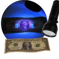 UV 51 LED Torch 395nm Ultraviolet Flashlight Blacklight Pet Urine Stain Detector