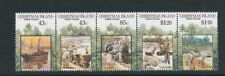 CHRISTMAS ISLANDS 1991 PHOSPHATE MINING LEASE strip of 5 (Scott 302a) VF MNH