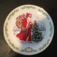 "1992 Lenox ""Kris Kringle"" Plate w/ COA & Original Box And Packaging #E0903 NIB"