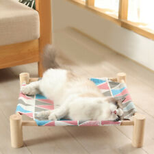Elevated Pet Bed Raised Dog Cat Lounger Camping Portable Sleep Hammock Home Cot