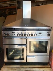 Rangemaster Professional Plus 110 Stainless Steel Dual Fuel  Cooker With  Hood