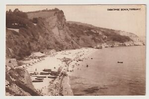 Devon Postkarte - Oddicombe Strand, Torquay (A3703)