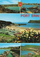 Isle of Man Port Erin Multiview Unposted Vintage Lovely Postcard