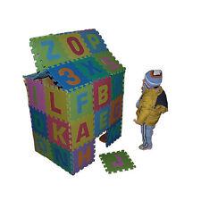 86 pièces Puzzle Tapis Jeu Mousse 180x180cm Chiffre et Alphabet Jouet Educatif