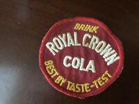 Drink Royal Crown Cola Best By Taste Test - Vintage 3'' Patch