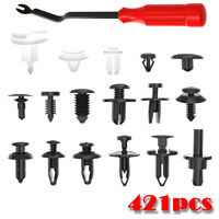 Universal Car Body Panel Fastener Clips Pin Rivet Trim Moulding Assortment+Tool