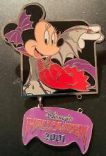 Minnie Mouse Vampire Bat Costume Tdl Halloween 2001 Dangle Pin # 6833