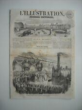 GRAVURE 1852. INAUGURATION DU CHEMIN DE FER DE NANCY, 17 JUIN 1852. EXPLICATIF..