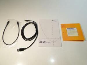 TI-84 Plus Silver Edition Manual, CD And Data Cables