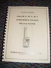 Storm Vulcan Model BCE, BCG, and BCT Boring Bar Manual