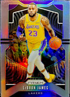 🔥2019-20 Panini Prizm LeBron James Silver #129 Lakers CENTERED! Possible BGS 10