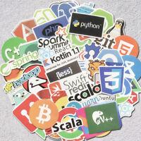 50Pcs Developer Programmer Stickers of Programming Languages and Internet Brands